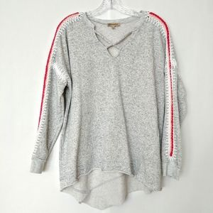 Anthropologie Democracy Embroidered Sweatshirt